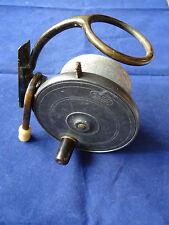 """A VINTAGE 4"""" MALLOCH SIDECASTER FISHING REEL WITH GIBBS PATENT RELEASE LEVER"""