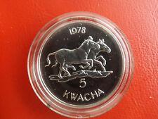 * Malawi 5 Kwacha 1978 Silber *WWF*  Zebra (Schub 44)
