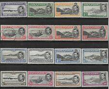 More details for ascension 1938-53 set (16) mh/mnh/fu. sg. 38b - 47b.  (447)
