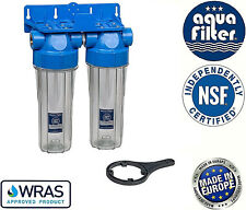 """10"""" Double Twin Water Filter Housing 1"""" / Biodiesel & Vegetable Oil"""