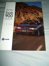 Saab 900 Convertible range brochure 1995 USA market