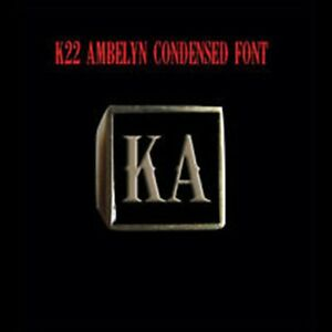 Solid Bronze KA Motorcycle Club Letter biker Ring K22 font Custom size