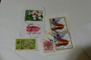 6 Vietnam Asia postage stamps philately philatelic kiloware postal mail