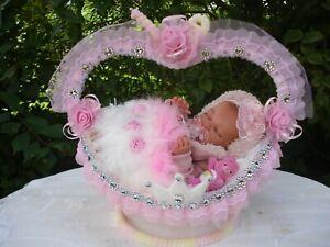 """Mini Reborn Baby Puppe""""Luna""""Sammlerpuppe,Babypuppe mit Gelenkskelett 30cm groß"""