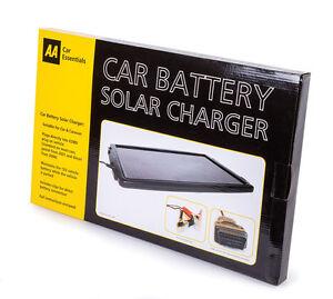AA Car Battery Solar Charger Maintainer Caravan Motorhome Golf Buggy Motorbike