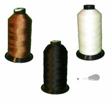 3 spool Black White Brown Bonded Nylon sewing Thread V 69 T70 for Upholstery