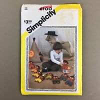 Ten Little Indians Simplicity Sewing Pattern 6100 felt teaching toys vintage 80s