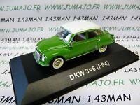 DDR7N voiture 1/43 test Allemagne 2013 norev : DKW 3=6 F94