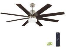 Home Decorators Zolman Pike 60 in. Indoor LED DC Brushed Nickel Ceiling Fan
