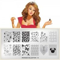 Moyou London stamping plate ,original Princess 14 stamp nails collection