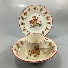 Mason's Teddy Bear Child 3 Piece Ironstone Place Setting Made In England