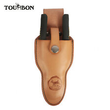 Tourbon Handcraft Sheath Leather Scissors Plier Holster Electrician Tool Holder