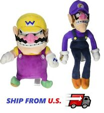 NEW Super Mario Bro- Mario Plush Set of 2 Wario and Waluigi Plush Toy US seller