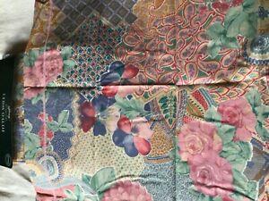 New M & S Single Fitted Sheet/1 Pillowcase 'Amalfi'Polycotton