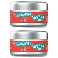 2 x WELLA Shockwaves Messy Matte Hair Styling Clay - Strong Hold & Soft Texture