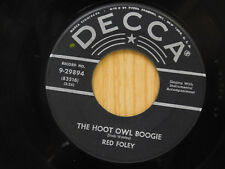 Red Foley 45 The Hoot Owl Boogie / A Handful of Rice ~ Decca VG