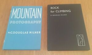 Rock for Climbing & Mountain Photography, 2 hardcover Books by C Douglas Milner