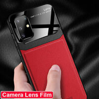 Hybrid Leather+Glass Protective Case Cover for Samsung Galaxy S20 Plus/S20 Ultra