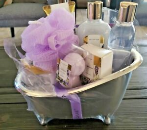 Spa Luxetique Spa Gifts for Women, 8pcs Lavender Spa Basket with Body Lotion, Ba