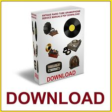 ANTIQUE RADIO TUBE GRAMOPHONE SERVICE MANUALS PDF DOWNLOAD