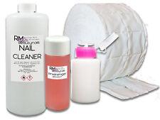 1000ml Nagel Cleaner 100ml Pinselreiniger 500 Zelletten Dispender Iso Spar Set