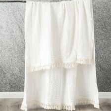 Renee Taylor Alysian Washed Cotton Textured Throw -White
