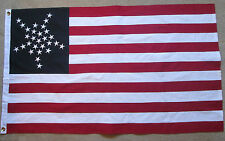 SEWN COTTON, 28 Star American Flag, Texas State Flag of 1845