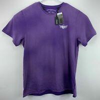 Buffalo David Bitton Mens Toroll Graphic Crewneck T-Shirt Purple
