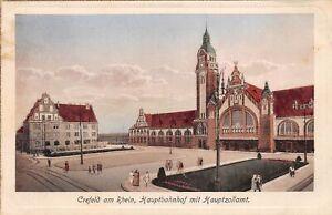 Crefeld am Rhein Hauptbahnhof mit Hauptzollamt gl1928 165.501