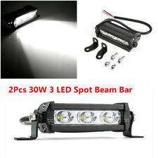 2x 30W 3 LED Light Work Bar Driving Fog Lamp Offroad SUV 4WD ATV Car Boat Truck