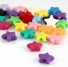 110Stk Acryl Perlen Acrylic Pony Beads Schmucksache Herstellung Star Muster