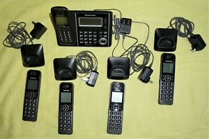 Panasonic KX-TGF370 Link2Cell Bluetooth Phone System w/5 Handsets & Manuals