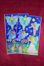 Vintage Sandylion Iridescent Fairy Sticker Sheets Fairies Princess Angels