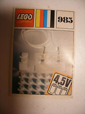 70' RARE anciene notice ORIGINALE instruction manual Lego System Legoland n°985