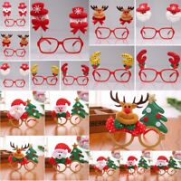 Novelty Elk Santa Claus Antler Christmas Party Glasses Toys Carnival Decorations