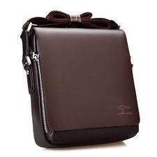 Mens Genuine Leather Handbag Brown Briefcase Phone Shoulder Messenger Small Bag