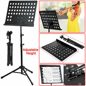 Foldable Heavy Duty Orchestral Music Stand Conductor Sheet Tripod Base Holder UK