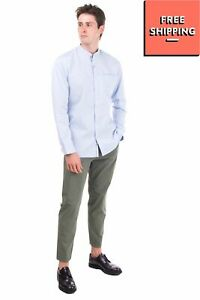 SELECTED HOMME Organic Cotton Shirt Size XXL Textured Button Front Slim Fit