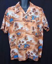 MADE IN CALIFORNIA Vintage 1960s Mens Hawaiian Style Shirt Large Aloha Outrigger