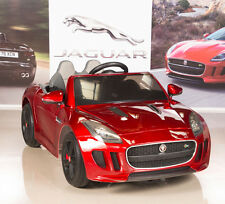 Jaguar F-TYPE 12V Kids Ride On Power Wheels Car with RC Remote, Painted Red