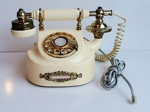 Vintage  French Style Rotary Phone Made in Korea UnTested