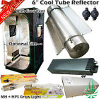 "6"" Cool Tube Reflector 400W MH+HPS Magnetic Or Digital Ballast Grow Tent Yoyo"
