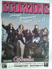 SCORPIONS    1988    FRANKFURT     orig. Concert -  Poster      84 x 60 cm