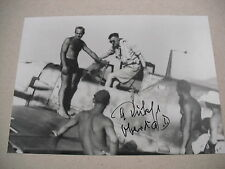 "SIGNED 5x7"" PHOTO OF NOTED WWII LUFTWAFFE ACE & KC, EL WINNER ADOLF DICKFELD!"