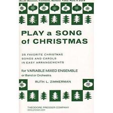 """Play a Song of Christmas"" Books Mixed Ensemble 9 Different Parts Available"