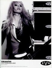 Orianthi Hand Signed 8x11 Photo+Coa Amazing Guitar Player Alice Cooper