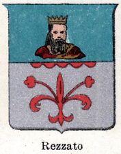 Stemma del Comune di REZZATO.Cromolitografia.Brescia.Lombardia.Passepartout.1901