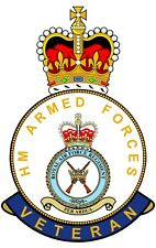 RAF Royal Air Force Regiment HM Armed Forces Veterans Clear Cling Sticker