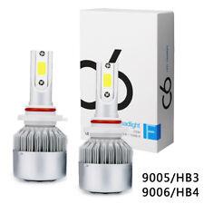 4x 9005/HB3+9006/HB4 144W LED Globes Headlight Kit Car Beam Bulbs Headlamp 6000K