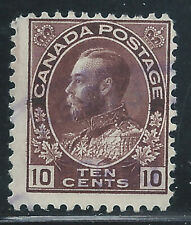 Canada #116(2) 1912 10 cent plum KING GEORGE V Used CV$6.00